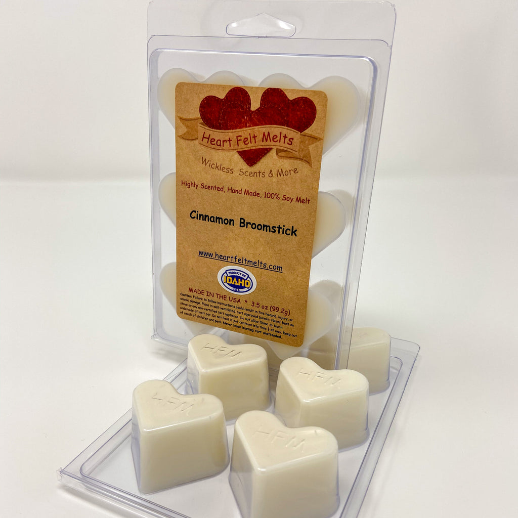 CINNAMON BROOMSTICK - Premium Scented Clamshell Heart Melts
