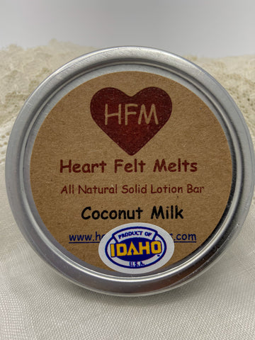 COCONUT MILK - Premium Quality Handmade Solid Soy Lotion Bar
