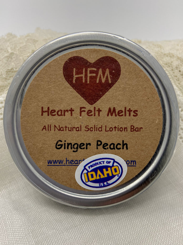 GINGER PEACH - Premium Quality Handmade Solid Soy Lotion Bar