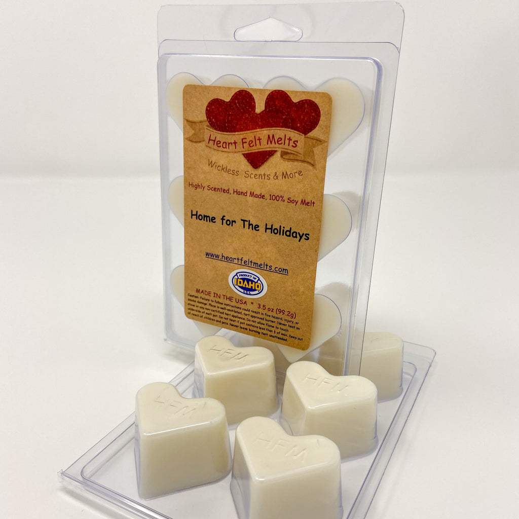 HOME FOR THE HOLIDAYS - Premium Scented Clamshell Heart Melts