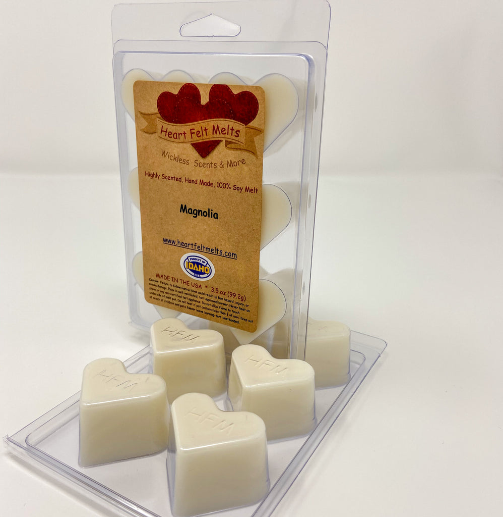 MAGNOLIA - Premium Scented Clamshell Heart Melts