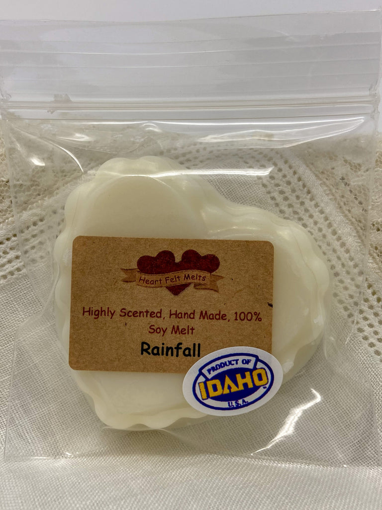 RAINFALL - Premium Scented 1oz Soy Heart Melt