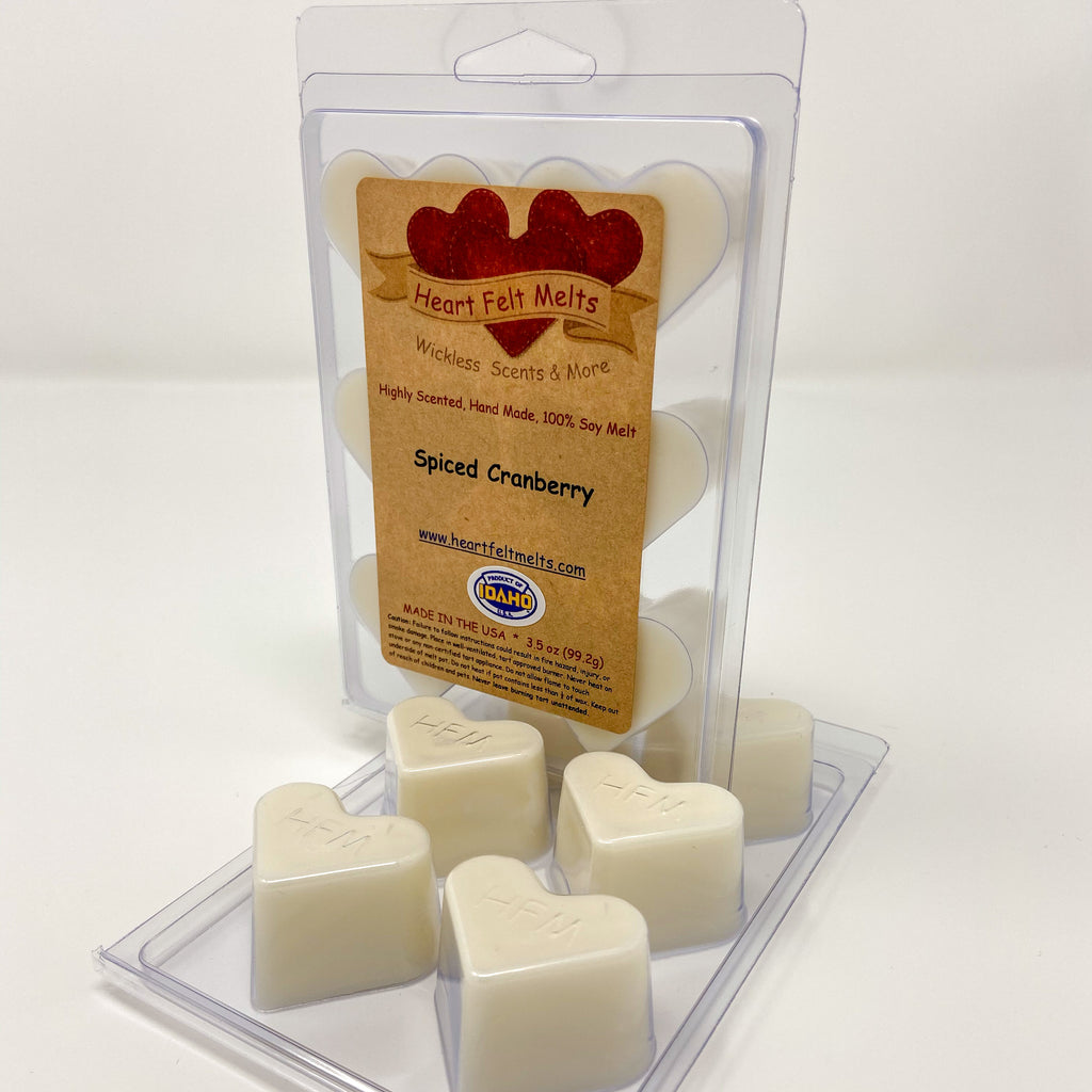 SPICED CRANBERRY - Premium Scented Clamshell Heart Melts