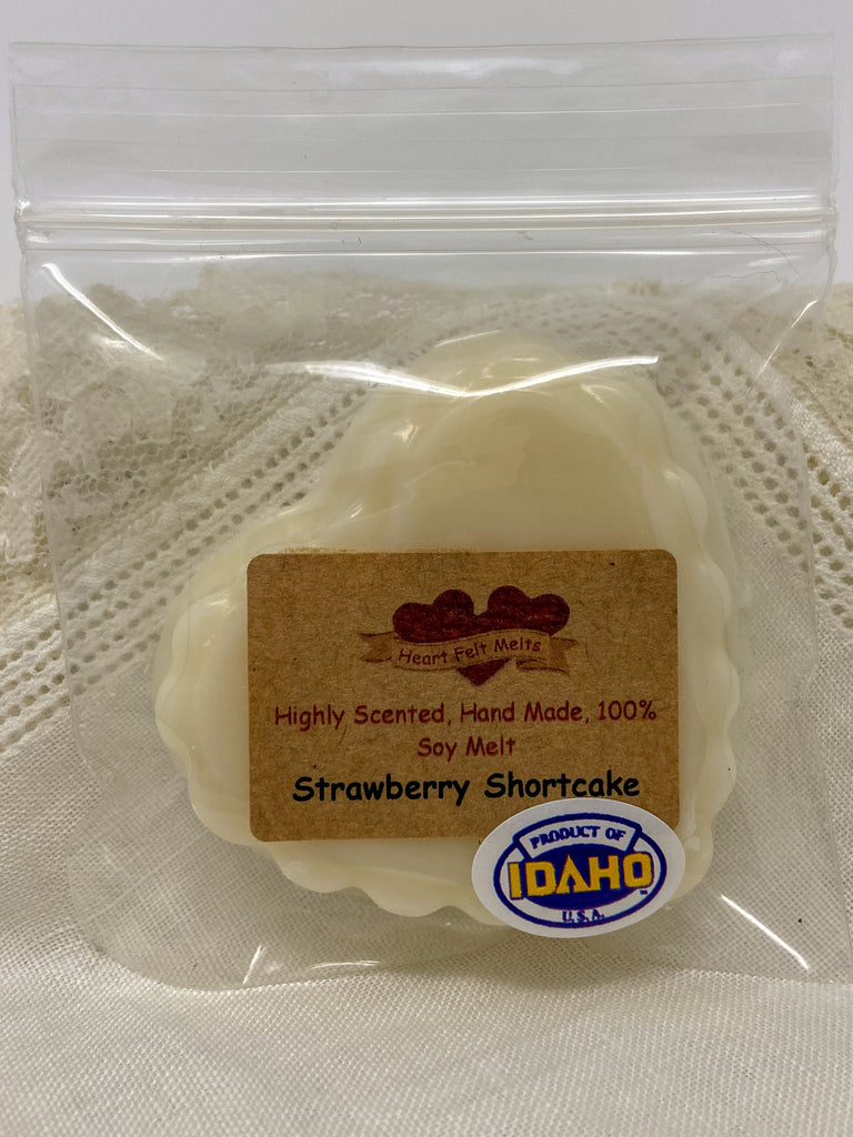 STRAWBERRY SHORTCAKE - Premium Scented 1oz Soy Heart Melt