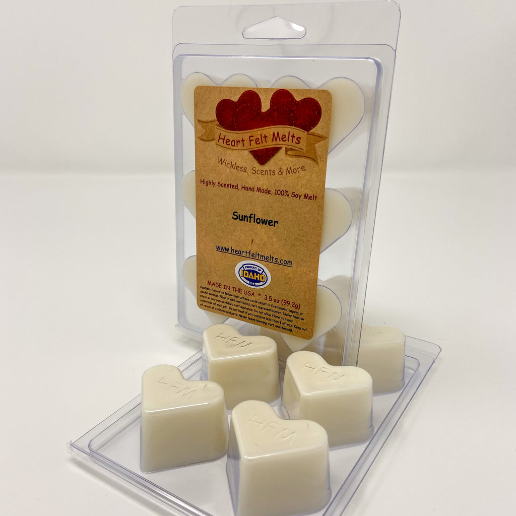 SUNFLOWER - Premium Scented Clamshell Heart Melts