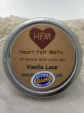 VANILLA LACE - Premium Quality Handmade Solid Soy Lotion Bar
