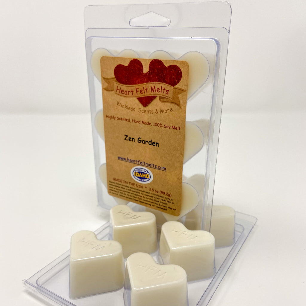 ZEN GARDEN - Premium Scented Clamshell Heart Melts