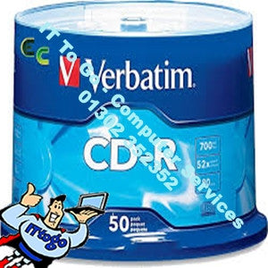 Verbatim 50x CD-R 700mb 52x Speed - IT To Go - Computer Services