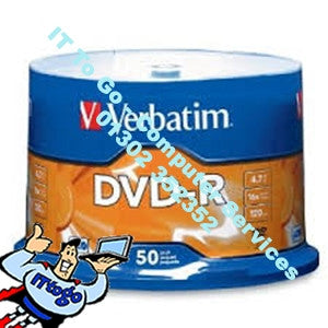 Verbatim 50x DVD-R 4.7gb 16x Speed - IT To Go - Computer Services