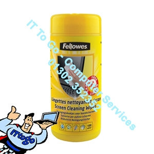 Fellowes 100 Screen Cleaning Wipes - IT To Go - Computer Services