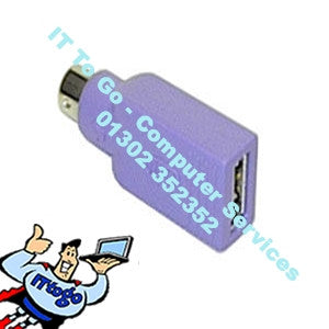 USB To PS2 Purple Converter