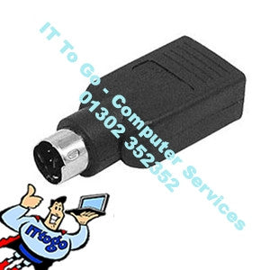 USB To PS2 Black Converter - IT To Go - Computer Services