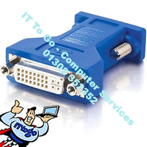 Standard DVI Female - VGA Female Adapter - IT To Go - Computer Services