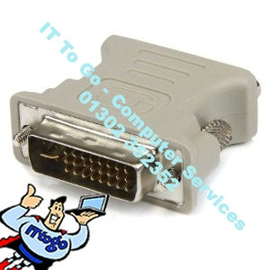 VGA - DVI Converter DVI-D 24 + 1 25Pin - IT To Go - Computer Services