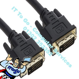 Standard 2m DVI Male - DVI Male Cable - IT To Go - Computer Services