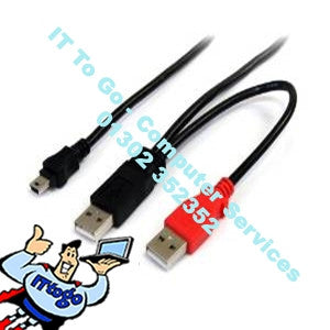 Standard 1m 2x USB Male - 1x USB Male Cable - IT To Go - Computer Services