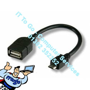 0.2m USB Female - Micro D USB Male Cable - IT To Go - Computer Services