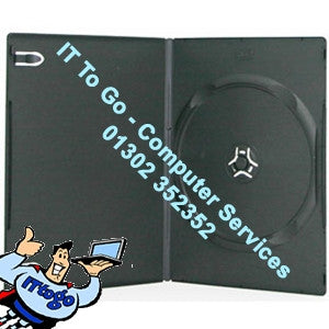 1x Black DVD Case - IT To Go - Computer Services