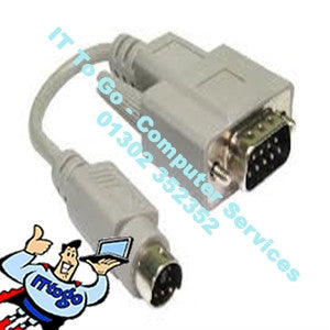 Male Serial 9pin to Male 8pin Adapter