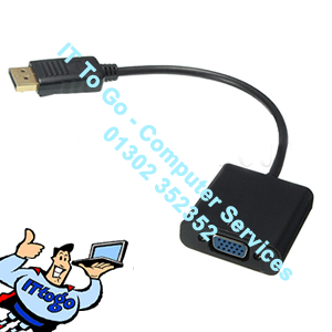 DisplayPort DP - VGA Adapter - IT To Go - Computer Services
