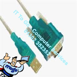 Vcom 1.2m USB-To-Serial Cable - IT To Go - Computer Services