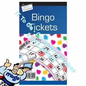 Just Stationary Bingo Tickets - IT To Go - Computer Services