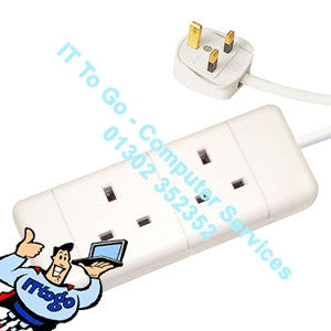 2 Socket 5m Mains Extension Socket - IT To Go - Computer Services