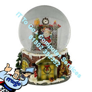 Christmas Hand Snow Globe - IT To Go - Computer Services