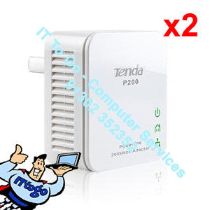 Tenda P200 Powerline Mini Adapter Kit - IT To Go - Computer Services