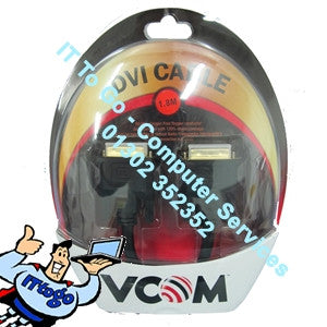 Vcom 1.8m Male - Male DVI Cable