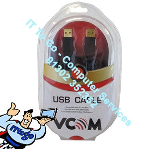 Vcom 3m A/A USB Cable - IT To Go - Computer Services