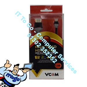 Vcom 1.8m CG586 Male To Micro Male HDMI Cable