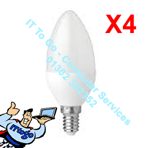 4x Pifco E14 Candle Led 425 Lumen Bulbs