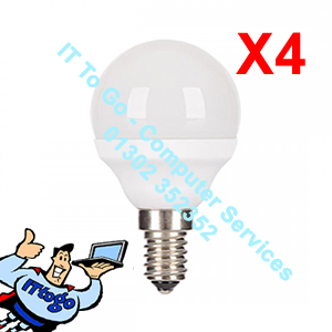 4x Pifco E14 Golf Led 425 Lumen Bulbs - IT To Go - Computer Services