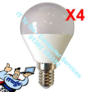4x Pifco E27 GLS Led 425 Lumen Bulbs - IT To Go - Computer Services