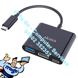 Akasa USB 3.1 Type-C Male To HDMI Female - IT To Go - Computer Services