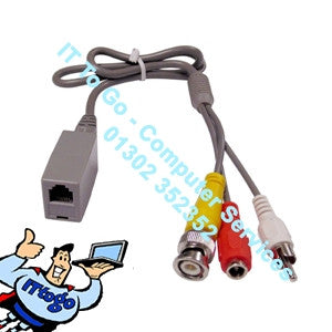 1x BNC & 12v Power - Phone Line Cable - IT To Go - Computer Services