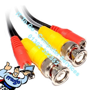 10m BNC Shot Gun CCTV Cable