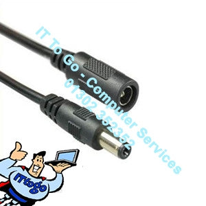 Standard 2m 12v CCTV Power Male - Female Cable - IT To Go - Computer Services