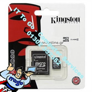 Kingston 8gb Micro SD HC Class 4 - IT To Go - Computer Services