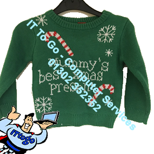 Mummys Best Xmas Present Childrens Christmas Jumper - IT To Go - Computer Services