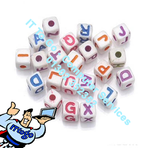 Colour Letter Beads