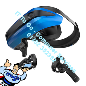 Acer Mixed Reality Headset & 2 Controllers In Black & Blue - IT To Go - Computer Services