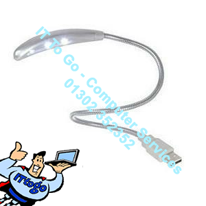GP1858 USB Light with 3 LED Bulbs for Laptop, PC or MAC, Flexible Cable