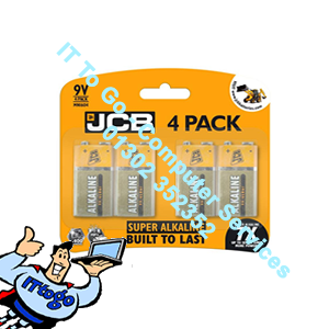 4x JCB Super Alkaline 9v Batteries