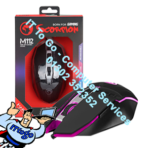 Marvo Scorpion M112 USB 7 Colour LED Black Programmable Gaming Mouse