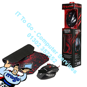 Marvo Scorpion M315 USB 7 Colour LED Black Gaming Mouse with G1 Small Gaming Mouse Pad Gaming Combo