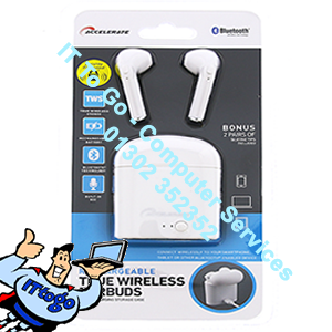 Rechargeable True Wireless Ear Buds (White)