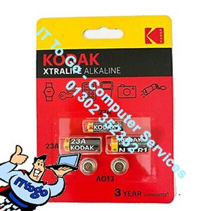 5x Kodak Alkaline Cell Button & Batteries