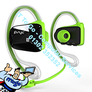 Sumvision PSYC Elise SX Bluetooth Sports Headphones (Green) - IT To Go - Computer Services